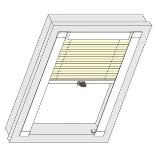 plissee passend f r velux dachfenster kaufen sundiscount. Black Bedroom Furniture Sets. Home Design Ideas